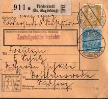 ! 1934  Paketkarte Deutsches Reich, Förderstedt  Nach Rottleberode - Germania