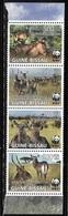 Guinea-Bissau 2008 WWF Antelope Strip MNH - Guinea-Bissau