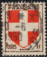France Poste Obl Yv: 836 Mi: 848 Yv:0,5 Euro Savoie (Armoiries) (beau Cachet Rond) - Francia