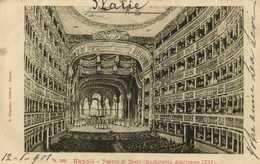 Napoli Teatre S Carlo ( Architette Amotrano 1737) RV Timbre Cachet - Napoli (Nepel)