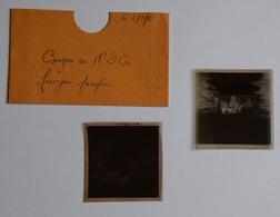 Pochette De 2 Négatifs : Fourgon Des Pompiers De Couzon-au-Mont-d'Or (69 / Rhône) - 1961 - Format 6 X 6 Cm Env (n°16828) - Mestieri
