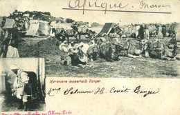 Karawane Ausserhalb Tanger RV Beau Timbre Postes Egyptienne - Tanger