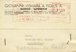 1950-affrancatura Meccanica Rossa L.15 Ditta G.Vismara,sapone Neutro Al Carotene - 1946-.. République
