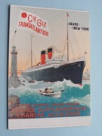 Cie Gle TRANSATLANTIQUE ( Havre - New York ) S.S. ROCHAMBEAU ( Edimedia ) Anno 1981 ( Zie / Voir Photo ) ! - Piroscafi