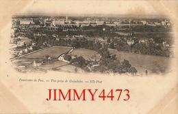 CPA - Env. De PAU - Panorama, Vue Prise De Guindalos ( Vieille Carte 1900 / 1901 ) 64 Pyrénées Atlantiques  N°1 ND Phot. - Pau