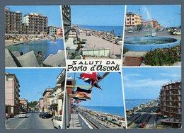 °°° Cartolina - Saluti Da Porto D'ascoli Vedute Viaggiata °°° - Ascoli Piceno
