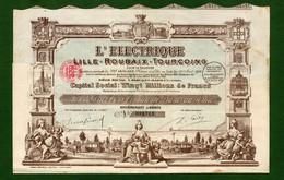 T-FR TRAMWAY L'Electrique Lille Roubaix Tourcoing 1923 - Chemin De Fer & Tramway