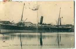"17 - La Pallice Rochelle : Paquebot Poste Anglais "" OROPESA "" - France"