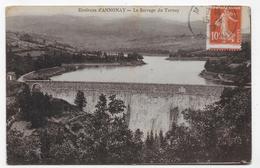 (RECTO / VERSO) ENVIRONS D' ANNONAY EN 1917 - LE BARRAGE - SEUMEUSE AVEC PIQUAGE A CHEVAL - BEAU CACHET - CPA - 07 - Varietà E Curiosità