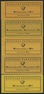 MARKENHEFTCHEN MH 7-11 **, 1961-66, 5 Markenheftchen Komplett, Pracht, Mi. 155.- - [7] Federal Republic