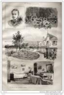 Le Mort Du Duc D´Albany à Cannes -  Page Original 1884 - Historical Documents
