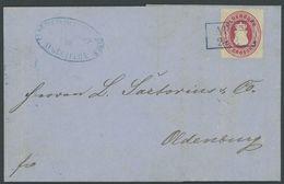 OLDENBURG 17A BRIEF, 1862, 1 Gr. Karmin Mit Blauem R2 APEN Auf Rechnung Aus AUGUSTFEHN, Feinst - Oldenburg