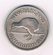 1 FLORIN 1948  NIEUW ZEELAND /27/ - Nieuw-Zeeland