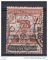 REGNO:  1924  FRANCHIGIA  -  30 C. BRUNO  US. -  ASSOC. NAZ. MUT. INV. GUERRA  -  SASS. 8 - 1900-44 Victor Emmanuel III