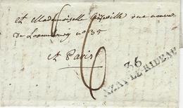 1807- Lettre De 36 / AZAY-LE-RIDEAU ( Indre Et Loire ) 52 Mm Noir Taxe 6 D Pour Paris - - Marcofilia (sobres)