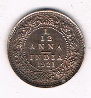 1/12 ANNA  1921 INDIA /34/ - India