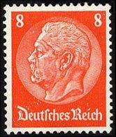 Dt. Reich 485I *, 1933, 8 Pf. Hindenburg, Wz. 2, Mit Abart Offenes D, Falzreste, Pracht, Mi. 25.- - Gebraucht