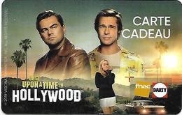 @+ Carte Cadeau - Gift Card : Fnac - Cinema - Hollywood - Lettres OU Au Verso - Carta Di Fedeltà E Regalo