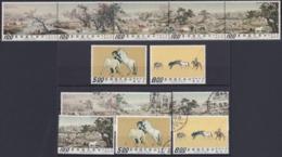 """TAIWAN 1970, """"100 Horses"""", Serie + 5-strip Mnh, + Serie Cancelled - 1945-... République De Chine"""