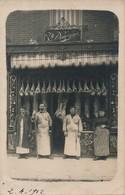 J15 - Carte Photo - Un Bel étal - Boucherie Domergue à Gentilly - Val De Marne - 1912 - Negozi