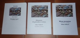 Lot De 3 Livres De Doc Sur Les Grenades, Les Mines Et Les Allumeurs 1914-18, 1939-45, Autres Casques, Armes Neutralisées - Livres