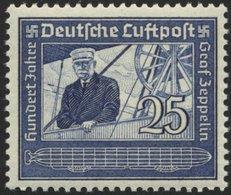 Dt. Reich 669 **, 1935, 25 Pf. Graf Zeppelin, Pracht, Mi. 22.- - Gebraucht