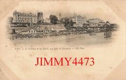 CPA - PAU - Le Château & Les Hôtels Pris De Jurançon (Vieille Carte 1900/1901) 64 Pyrénées Atlantiques - N° 18 -ND Phot. - Pau