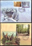 MACEDONIA / MACEDONIE - 2011 - Europe / Europa-CEPT - Année De Forêts - 2 FDC - Macédoine