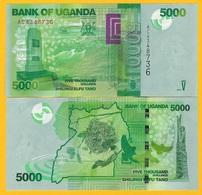 Uganda 5000 Shillings P-51a 2010 UNC Banknote - Ouganda