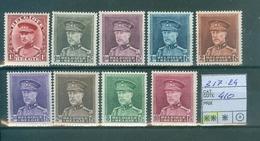 317-324 Xx   Côte 410.00€ - 1931-1934 Kepi