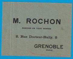 ENVELOPPE M. ROCHON RASOIRS EN TOUS GENRES 2 RUE DOCTEUR-BALLY GRENOBLE ISERE - Publicités