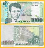 Armenia 1000 Dram P-55 2015 REPLACEMENT UNC Banknote - Armenia