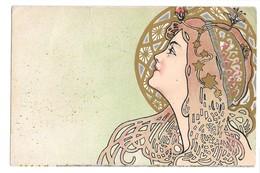 CPA HENRI MEUNIER FEMME OREOLE ART NOUVEAU + AIX LES BAINS EXCEPTIONNEL!!! - Illustrateurs & Photographes