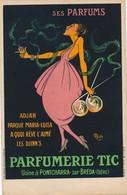 J16 - 38 - PONTCHARRA-SUR-BRÉDA - Isère - PUBLICITÉ - Parfumerie TIC - Illustré Par Mich - Publicité