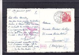 Suisse - Carte Postale De 1943 - Oblit Gurten - Exp Vers Namur - Avec Censure - Vue De La Cathédrale De Bern - Briefe U. Dokumente