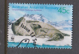 Australian Antarctic Territory ASC 145 2001 Leopard Seals 45c Mother And Puppyused - Used Stamps