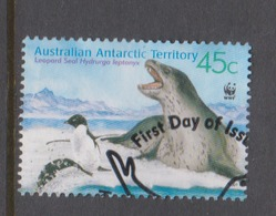 Australian Antarctic Territory ASC 146 2001 Leopard Seals 45c Bull On Ice,used - Used Stamps