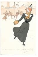CPA 9 STYLE RAPHAEL KIRCHNER FEMMES ART NOUVEAU - 1900-1949