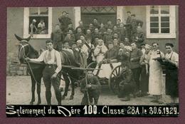 """ ENTERREMENT DU PERE CENT - Classe 1928 A "" - Militaria"