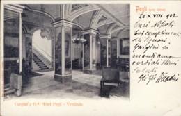 1902- Cartolina Pegli Grand Hotel Gargini Vestibolo Annullo Di Ambulante Ventimiglia Genova - Genova