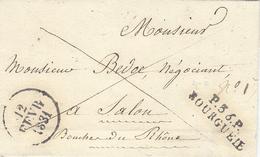 1831- Lettre De P.36.P. / BOURGUEIL  ( Indre Et Loire ) 32 Mm Noir Taxe 6 D Pour Paris - Postmark Collection (Covers)