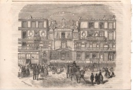 Paris 7e Café Restaurant De L Esplanade Des Invalides 1868 50 Rue Fabert - Gravure - Books, Magazines, Comics