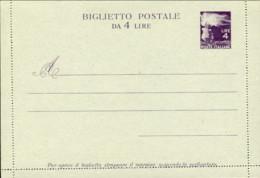 1946-cat.Filagrano Euro 240, Biglietto Postale L.4 Fiaccola Qualita' Extra - 6. 1946-.. Repubblica