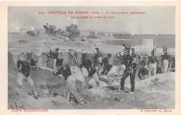 MILITARIA - GUERRE - CHATEAU DE MOREE (1828) - LE GENIE OUVRE ... - ILLUSTRATEUR R. ARUS - Other Wars