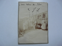 PHOTO ANCIENNE - TUNISIE : GRÏA - Nov. 1907 / Juillet 1908 - Scène Animée (Gare) - Afrika
