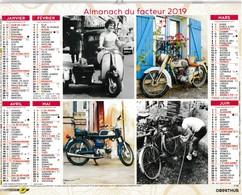 Saône-et-Loire Almanach Du Facteur 2019 Photographies En Couleurs Et En Noir Et Blanc Solex Vespa Motos Bicyclette - Calendari
