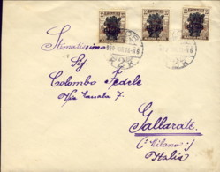 1920-Ungheria Lettera Diretta A Gallarate (Milano) Con Affrancatura Multipla Del 20fi. - Postmark Collection