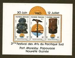Polynésie **  Bloc N° 5 - Festival Des Arts Du Pacifique - - Blokken & Velletjes
