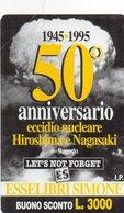 ITALY - URMET - 220 - 50° ANNIVERSARY HIROSHIMA NAGASAKI - MINT - PRIVATE CARD - Italië
