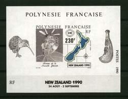 "Polynésie **  Bloc N° 17 - "" Nelle Zélande 1990 ""- - Blokken & Velletjes"